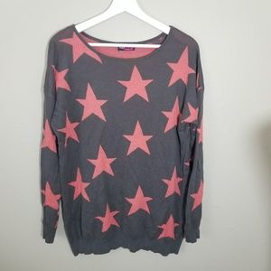 Say What? Starry Print Light Sweater